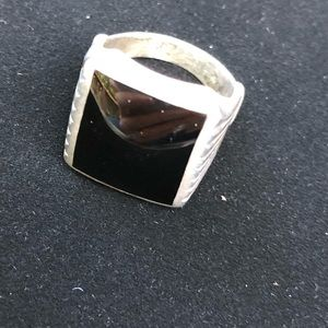 Other - Vintage sterling silver onyx men's ring. Size 9.